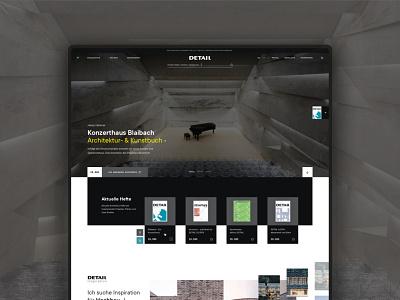 Detail: E-Commerce Design magazine buildings houses architecture web ui uxui ux webdesign website commerce e-commerce