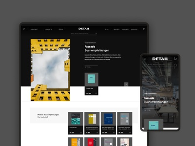 Detail: E-Commerce Design magazine buildings houses architecture uxui ui ux web webdesign website e-commerce commerce ecommerce
