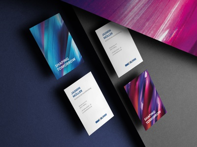 Hofmann & Vratny: Rebranding mockup business card print design agency branding