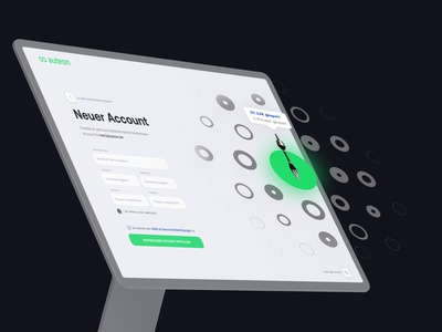 auteon – register & login – user interface register start intro login registration shop spareparts userfriendly web software logo ux ui design agency website branding