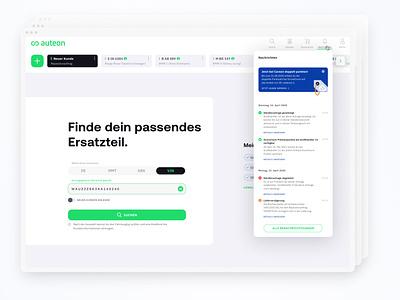 auteon – search & compare – user interface filter compare search userfriendly spareparts automotive software shop logo web ux ui design agency website branding