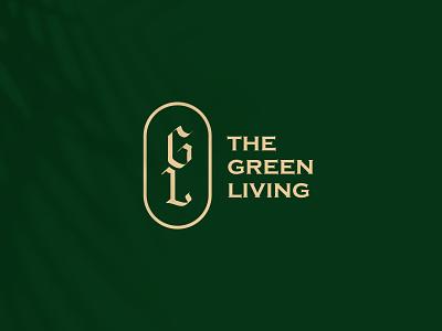 The Green Living - Brand branding design logo