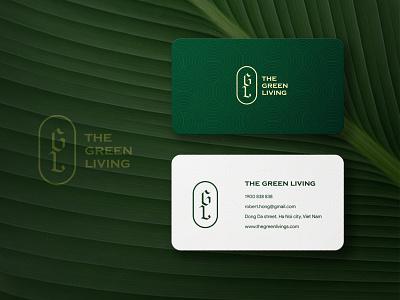 The Green Living branding logo design