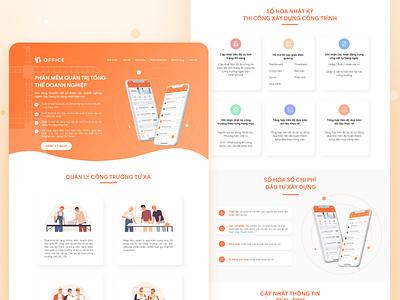 Landing page icon branding ui design