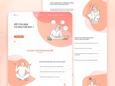 Landing page illustration ui design branding