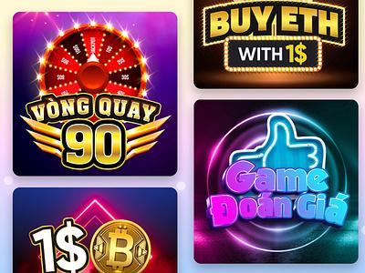 Game Online typography logo illustration design branding
