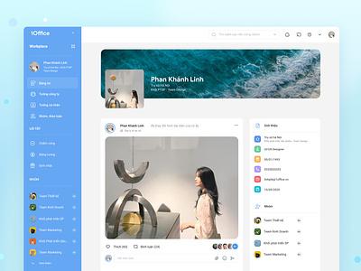 Social Profile web ux ui