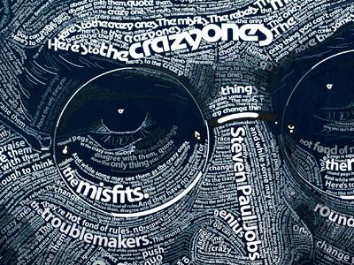 Steven Paul Jobs typography illustration apple steve jobs