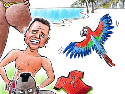 World Cup banner 2 brasil football soccer rio sport woman naked balotelli van persie ronaldo shirt ocean