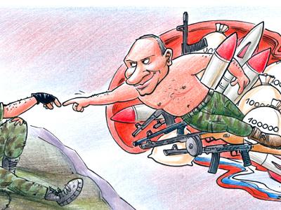 The Creation of Separatist putin separatist terrorist ukraine gun money michelangelo donetsk russia war politics missile