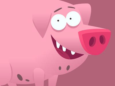 Pig pig hog swine sow cartoon snout tooth teeth mud dirt