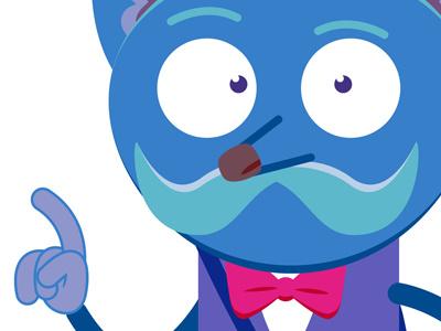 Character vectorart vector design mobile apps app character illustrator cartoon mustache animal hipster character