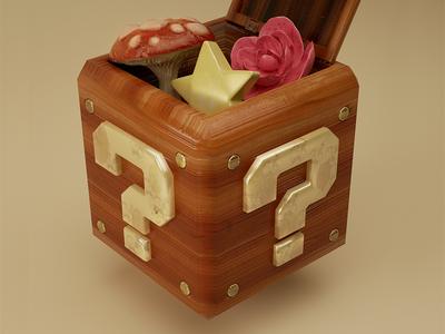Wooden Box substance painter mario nintendo cg octane 3d cinema4d c4d
