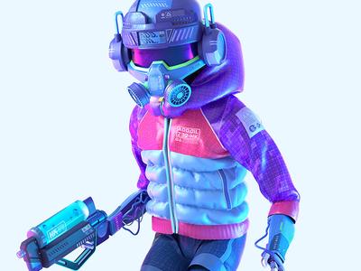 Urban Sentinel zbrush addoil marvelous designer sci-fi character octane c4d 3d cinema4d