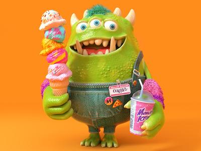 The Monster Project 2019 monster project icecream monster character octane c4d 3d cinema4d