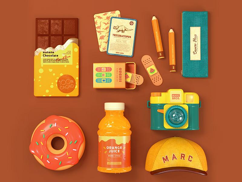 Kids Supply kids illustration toy octane c4d 3d cinema4d