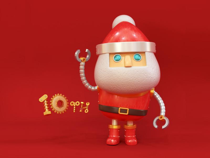 iSquare Hong Kong Xmas Campaign santa claus christmas xmas render cg toy character octane c4d 3d cinema4d
