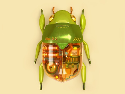 Nature Sound audio beetle insect illustration render cg c4d 3d cinema4d
