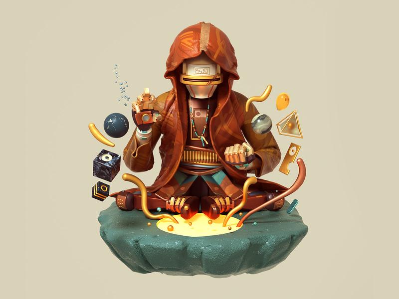 Alchemist marvelous designer character octane c4d 3d cinema4d