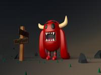 Lost Monster character 3d art design render characterdesign photoshop modeling c4d