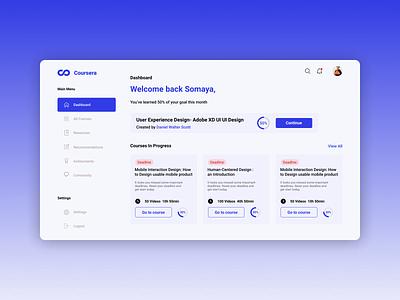 Redesign Management Dashboard coursera web ux ui design