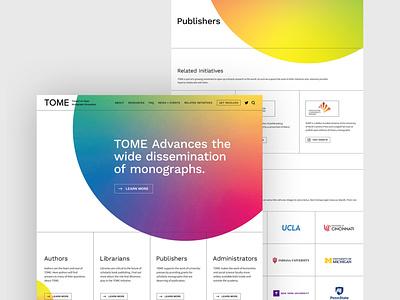 TOME Website Design + Branding branding minimalism website design