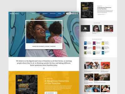 Website Design, Branding + Creative for Family Story design nonprofit non-profit brand logo brochure website