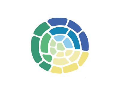 Communitas Logo non-profit health yellow blue green stone circle logo
