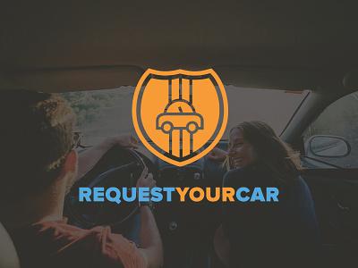Request Your Car Logo fun vehicle car orange blue