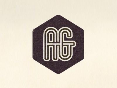 Ag Logo mark lettering hexagon logo developer