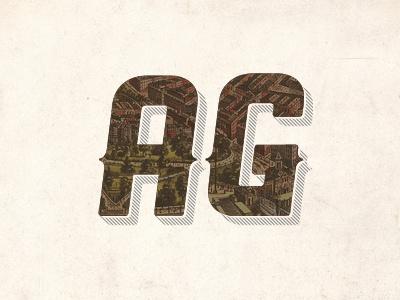 AG Logo mark lettering hexagon logo developer map