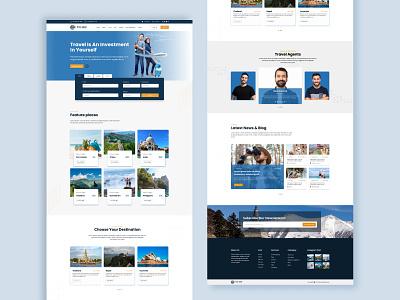 Travel Agency Web Template UI design ui ux web web design travel agency ui website template uidesign