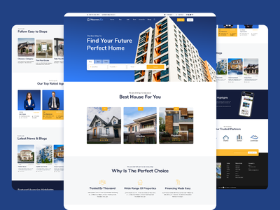 Real Estate Website design redesign layout landing page design landing page responsive ux web ui web template webdesign real estate