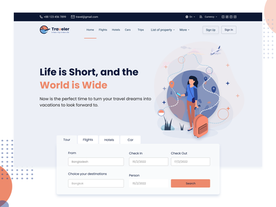 Hero Section on Light Mode of Travel web template Design travel landing page landing page ui landing page ui ux web uiux tour guide tour website tour travel website travel web travel agency travel