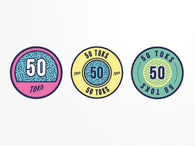 Toks Tokens token money currency coin branding bold