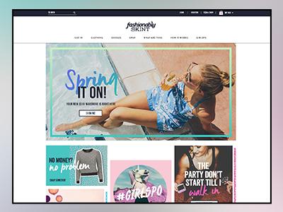 Fashionably Skint Homepage