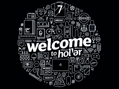 Welcome welcome black white circle monotone illustration icon