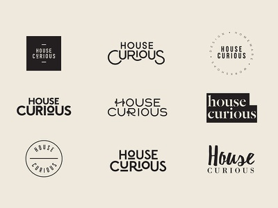 House Curious 1 workshop homeware house design food monogram icon mark branding logo