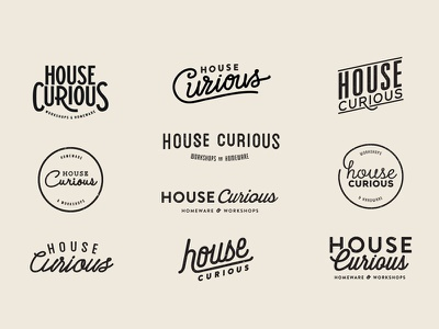 House Curious 2 workshop homeware house design food monogram icon mark branding logo