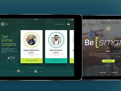 iPad app concept money finance ui mobile app ipad