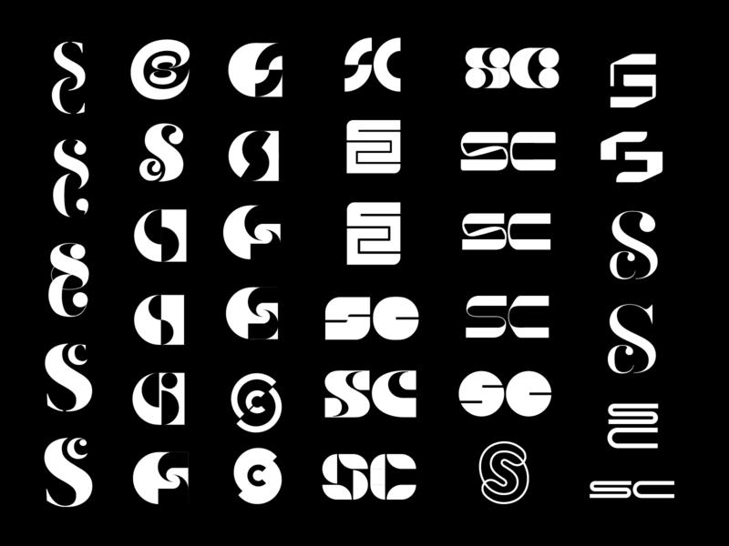 SC Monograms concepts sc branding mark logo monogram c s