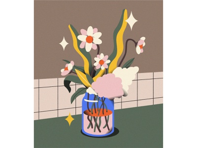 Still Life #03 flower stilllife life illustrator vector illustration graphic flat