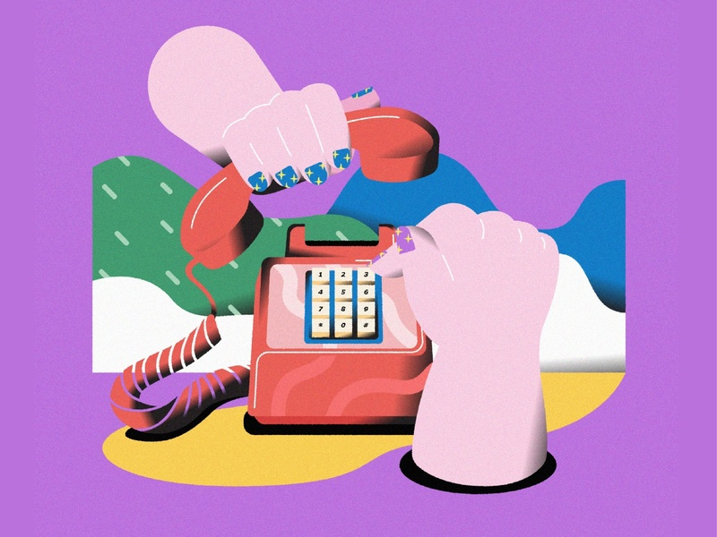 Still Life #04 telephone color design vector life illustrator illustration graphic flat