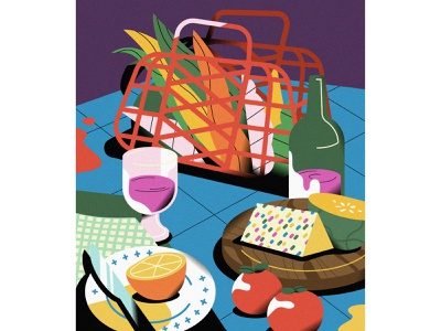 Still Life #06 color stilllife food vector life illustrator illustration graphic flat