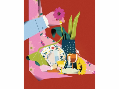 Still Life #08 home stilllife color life vector illustrator illustration graphic flat