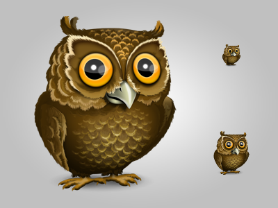 Owl owl icon photoshop brown