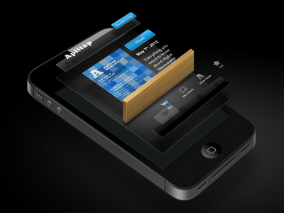 App in layers layers blue iphone shelve icon illustration gui