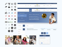 Beach Resort Website UI Branding
