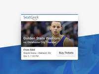AppView Carousel Cards: Tickets