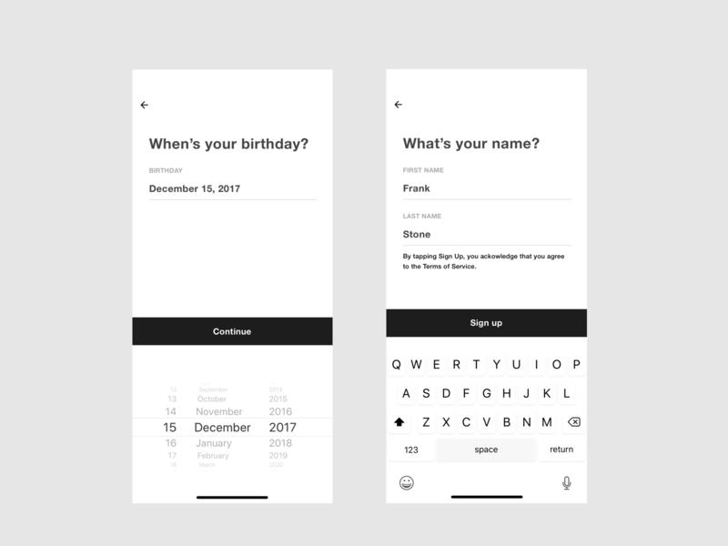 Birthday and Pick Username